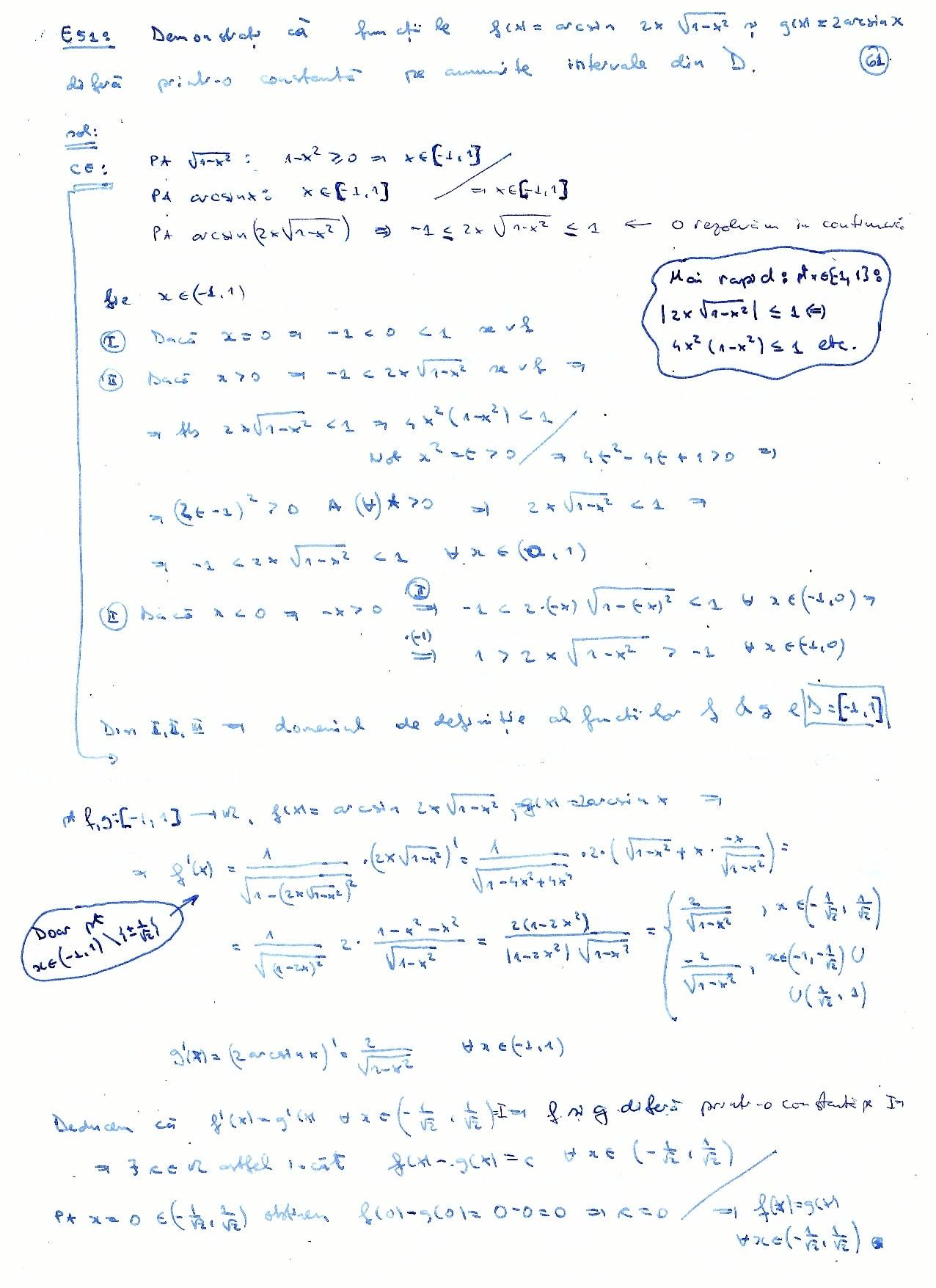 Mate cu Matei: Teorema lui Lagrange  Derivabilitate, monotonie